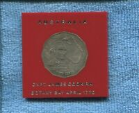 1970 Captain Cook 50 Cent Australian Coin in small 2x2 Case *