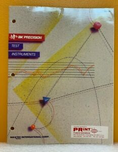 BK Precision / Maxtec International Corp. 1988 Test Instruments Catalog.