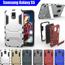 Metallic Mobile Phone Cases, Covers & Skins for Samsung Galaxy S5 with Kickstand