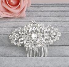 Sliver Wedding Prom Accessories Crystal Hair Comb Diamante Bridal Headpiece 1 PC