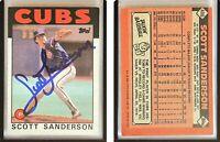 Scott Sanderson Signed 1986 Topps #406 Card Chicago Cubs Auto Autograph