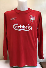 Liverpool Home Football Shirt Jersey 2004 2005 2006 Long Sleeve Large L Adults