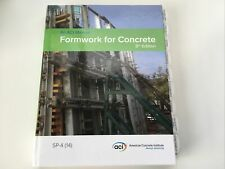 Formwork For Concrete SP-4 (14) 8th ED ACI Manual Hardcover~Tabs
