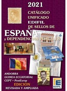 CATALOGO EDIFIL 2021. SELLOS DE ESPAÑA. CON DEPENDENCIAS POSTALES.