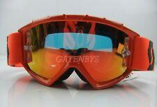 Kids Scott 89Si Mirrored Lens Youth Pro Motocross Goggles Orange KTM SX 50 60 85