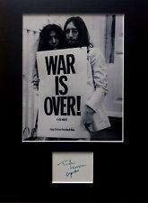 JOHN LENNON YOKO ONO signed autographs PHOTO DISPLAY The Beatles