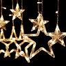 LED Star Curtain String Lights 12 Stars 138 LED Window Icicle DIY Christmas lamp