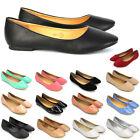 Womens Flat Pumps Ladies Glitter Ballet Ballerina Dolly Bridal Shoes Size 3-8