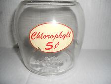 Vintage Gum Ball Machine Glass Globe Dietz Globe With Chlorophyll 5 cent Sticker