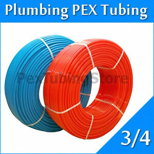"2 rolls 3/4"" x 100ft PEX Tubing for Potable Water Combo"