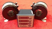Single Phase Meter for Amperage, Voltage, Frequency, Hours With two 150 AMP CTs