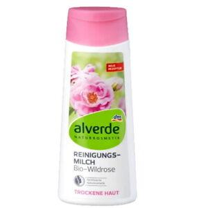 Alverde Natural Cosmetics Organic Wild Rose Cleansing Milk for DRY SKIN, 200ml