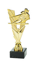 TALL GOLD PISTOL SHOOTING GUN TROPHY ACRYLIC *FREE ENGRAVING* 250mm FREE PP NEW*