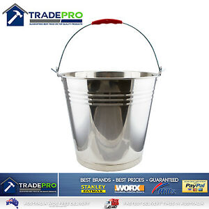 Stainless Steel Bucket with Handle 15Ltr Heavy Duty Quality 15L Marine Pail