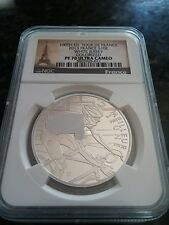 2013 France Silver 100th Ed Tour De France White Jersey PF70 UCAM~Very Rare~ NGC