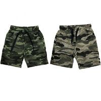 Boys Kids Shorts Fleece Camo Camouflage Summer Gym Sports