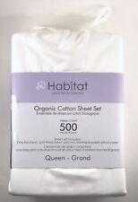 Habitat Luxury Home Collection Sheet Set Queen 100% Organic Cotton 500TC