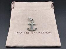 David Yurman Sterling Silver Anchor Enhancer Pendant NWOT
