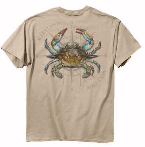 Maryland Blue Crab Short Sleeve T-Shirt - NEW FAST FREE SHIP