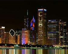 CHICAGO SKYLINE 'Cubs Win World Series' Glossy 8x10 11x14 or 16x20 Photo Poster