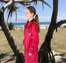 Swim Parka Wazsup Red Outer With Black M (deck coat, swim jacket, beach robe)
