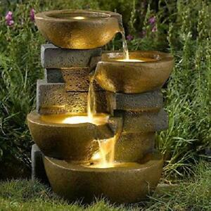 Jeco Pots Water Fountain With Led Light