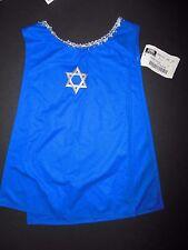 NWT Praise Ephod Tunic Small child Royal blue w/ Silver Star of David