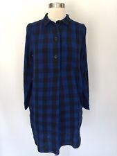 Madewell Latitude Shirt Dress in Buffalo Check Plaid Size XS Blue Black E1510