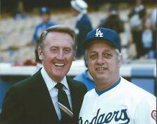 "Vin Scully & Tommy Lasorda - 8"" x 10"" Photo - 1978 - Dodger Stadium- Los Angeles"