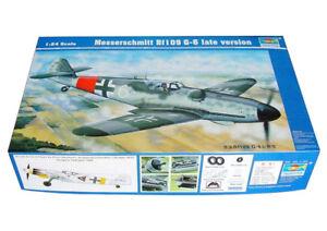 Trumpeter 9362408 Messerschmitt Bf109 G-6 Spät 1:24 Kampfflugzeug Modellbausatz