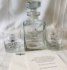 2000 Indianapolis 500 Speedway Brickyard 400 USGP F-1 Decanter Glasses TIFFANY
