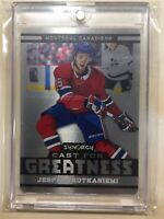 JESPERI KOTKANIEMI 2018-19 UD SYNERGY CAST FOR GREATNESS ROOKIE CARD ! Montreal