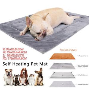 Cat Dog Bed Cushion Rug Self Heating Blanket Thermal Pet Blanket Super Soft Mat