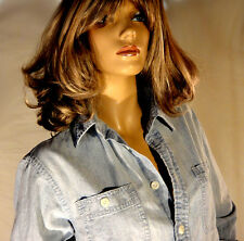 New Polo Ralph Lauren woman chambray boyfriend shirt M medium blue NWT man's fit