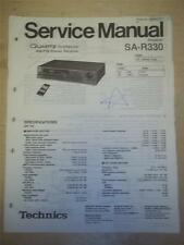 Technics Service Manual~SA-R330 Reciever~Original~Repair