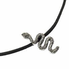 Harry Potter Crysttal Nagini Snake Charm Choker Necklace - Black Voldermort