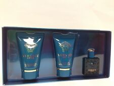 VERSACE EROS By Versace 3PC MINI GIFT SET S/GEL COLOGNE & A/S BALM NEW IN BOX
