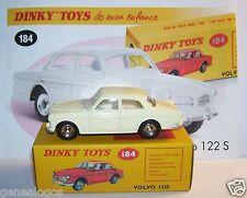 DINKY TOYS ATLAS VOLVO 122 S WHITE CREAM 1/43 REF 184 IN BOX new b