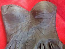 Anna Argiolera Black Tafeta Strapless Dress Size 4     ~ Beautiful ~