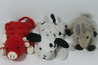 Lot of 3 Ty Beanie Baby Dotty/Snort/Goatee (12)