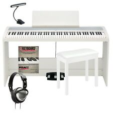 Korg B2Sp Digital Piano with Stand - White Complete Home Bundle