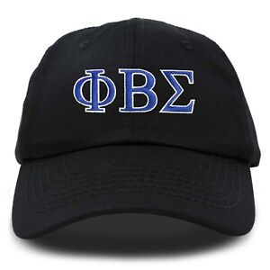 DALIX Phi Beta Sigma Greek Letters Ball Cap Embroidered Hat in Black