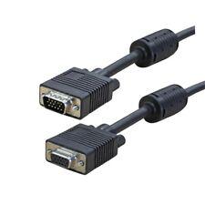 15M Premium VGA SVGA 15pin Monitor Cable Male to Female Lead PC TV Laptop LCD