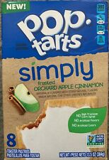 NEW POP TARTS SIMPLY FROSTED ORCHARD APPLE CINNAMON 13.5 OZ BOX 8TOASTERPASTRIES