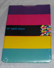"""10"""" Tab Tablet protective sleeve pouch case Samsung Universal Stripes design NEW"""