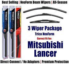 3pk Wipers Front & Rear NeoForm fit 2010+ Mitsubishi Lancer - 16260/180/14B
