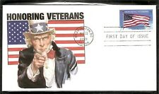 US Scott # 3508 Honoring Veterans  FDC. Unknown cachet.