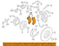 PORSCHE OEM 2017 Panamera Brake-Front-Brake Pads 95B698151G