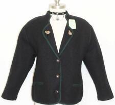 BLUE - BOILED WOOL Women Girl WINTER German Cardigan Walk SWEATER Jacket / 14 L