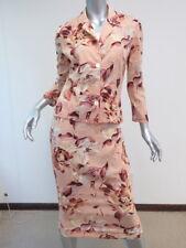Dolce & Gabbana Semi-Sheer Floral Print Skirt Set Outfit Rose Pink Size 40